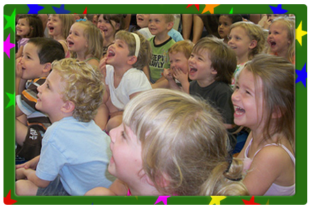 Alley-Oop performs extremely funny and energetic magic shows at Day Cares, Pre-Schools, Elementary Schools, Libraries, and at Birthday Parties in Indianapolis and surrounding cities.